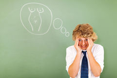 School boy embarrassed Royalty Free Stock Photography