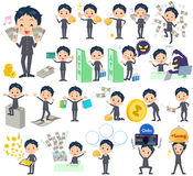 School boy gakuran money Royalty Free Stock Photo