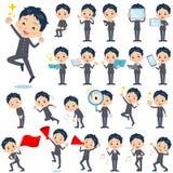 School boy gakuran 2. Set of various poses of school boy gakuran 2 Stock Photo