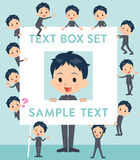 School boy gakuran text box Royalty Free Stock Image