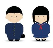 School Boy & Girl Stock Photo