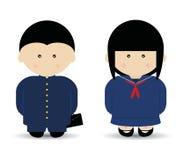 School Boy & Girl. Boy & Girl in (Japanese) school uniforms Stock Photo