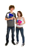 School boy and girl Royalty Free Stock Photos