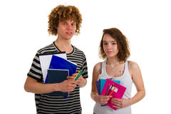 School boy and girl Royalty Free Stock Image