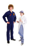 School boy and girl for occupation education Royalty Free Stock Photo