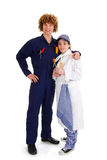 School boy and girl for occupation education Royalty Free Stock Images