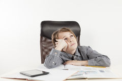 School boy hate learning Royalty Free Stock Photo