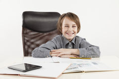 School boy hate learning Royalty Free Stock Photography