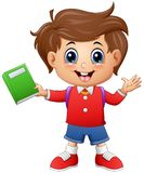 School boy holding a book Royalty Free Stock Photos