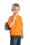 School Boy holding books Royalty Free Stock Photo