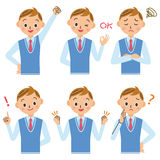School boy. Junior high school boy, high school student pose set Royalty Free Stock Images