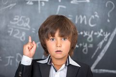School boy knows the solution Royalty Free Stock Photography