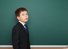School boy portrait near board Stock Images