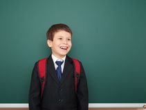 School boy portrait near board Stock Photos
