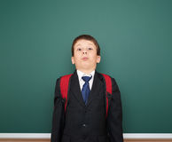 School boy portrait near board Stock Image