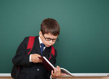 School boy portrait near board Royalty Free Stock Images