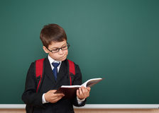 School boy portrait near board Stock Photography
