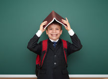 School boy portrait near board Stock Photo