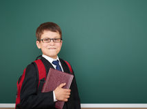 School boy portrait near board Royalty Free Stock Photo