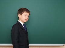 School boy portrait near board Royalty Free Stock Photography