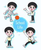 Set of Cute teen Character royalty free illustration