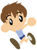 School Boy Running. With winning Royalty Free Illustration