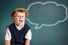 School boy's message Royalty Free Stock Image