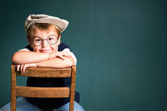 School boy's success Royalty Free Stock Image