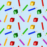 School Boy Seamless Pattern Royalty Free Stock Photo