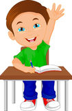 School boy sitting on table. Vector illustration of school boy sitting on table Royalty Free Stock Photography
