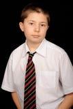 School boy in smart uniform Stock Images