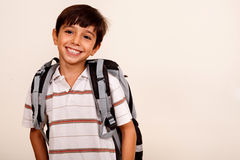 School boy, smiling portrait Royalty Free Stock Image