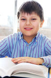 School boy studying Stock Image