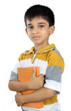 School Boy with Textbook. Indian School Boy with Textbook Royalty Free Stock Photos