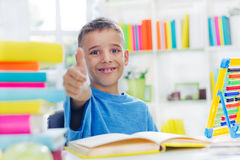 School boy with thumb up Stock Photos