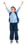 School boy very happy Royalty Free Stock Image