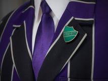 School boys blazer with prefect school badge Stock Photography