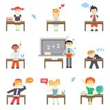 School. Boys and girls Royalty Free Stock Photos
