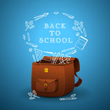 School briefcase Stock Image
