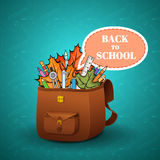 School briefcase Stock Photography
