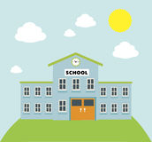 School  build graphic Royalty Free Stock Photos