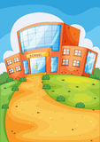 School building. Illustration of school building and path Stock Image