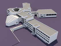 School building. Architecture 3d sketch of the school building Royalty Free Stock Image