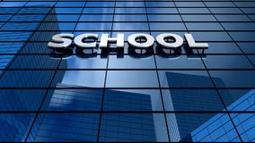 School building blue sky timelapse. stock footage