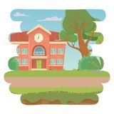 School building design vector illustration. School building design, Education lesson study learning classroom and information theme Vector illustration vector illustration