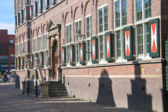 The school building in Dordrecht, Netherlands royalty free stock photo
