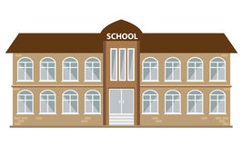 School building icon with flat color style. Illustrated vector. School building icon with flat color style. Illustrated vector with  background Royalty Free Stock Photos