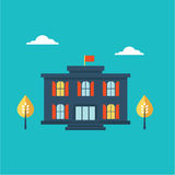 School building icon Royalty Free Stock Photos