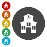 School building icon. Vector icon vector illustration