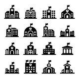 School building icon. Vector illustration Graphic Design Stock Images